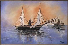 Quadro � �leo - Barco II