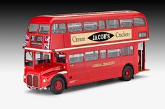 Revell London Bus Plastic Model Kit 7651 | The AEC Routemaster was presented to the public for the first time in 1954.