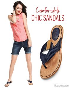 When the sun comes out, your sandals will shine in everything from jewels and buckles to fringe and cutouts. Whether you strap 'em on or slip into them, they must be comfortable! Click to read this blog post.