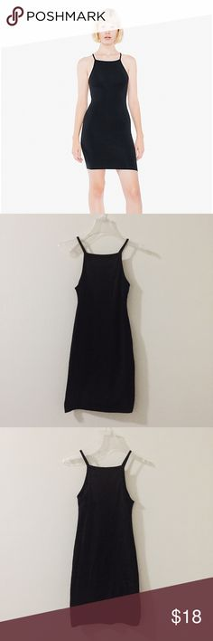 American Apparel mini black dress Only worn once- great condition. Figure hugging, super flattering. 95% combed cotton & 5% elastane. First photo shows the front and the second photo shows the back. American Apparel Dresses