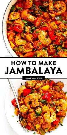 Hands-down the best jambalaya recipe! It is surprisingly easy to make customizable with your favorite proteins (I used chicken shrimp and Andouille sausage) and full of bold zesty Cajun flavors that everyone will love. Cajun Recipes, Seafood Recipes, Vegetarian Recipes, Chicken Recipes, Dinner Recipes, Cooking Recipes, Healthy Recipes, Haitian Recipes, Louisiana Recipes
