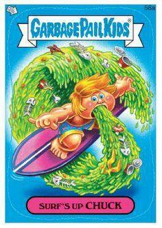 Garbage Pail Kids Surf's Up Chuck