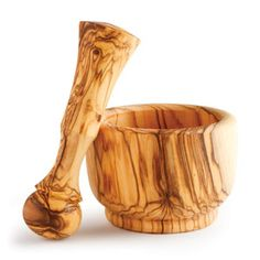 Olivewood Mortar & Pestle   This one I will go back and get myself.