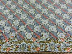 Kenyan Fabric--African Wax Print Fabric--Java Print Fabric--Pale Blue and Red Globes Print Fabric--African Fabric by the HALF YARD - pinned by pin4etsy.com