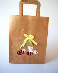Poches kraft illustrées thème Pâques - peint main : Emballages cadeaux par floartistique