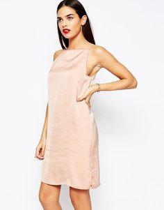Image 1 of ASOS Mini Cami Slip Dress in Hammered Satin