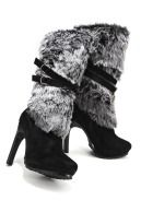 Cant do Chicago winter without pimpin fur boots! Chic Faux Fur Boots from Boston Proper