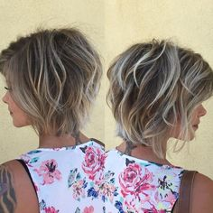 Pearl blonde balayage by Cami Mcknight - New Hair Cut Balayage Highlights, Hair Color Balayage, Blonde Balayage, Brown Balayage, Short Hair With Layers, Short Hair Cuts, Short Hair Styles, Pearl Blonde, Pearl Hair