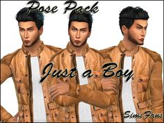 Downloaded Sims 4 Updates: Sims Fans - Poses : Just a Boy Posepack by Sim4fun, Custom Content Download!