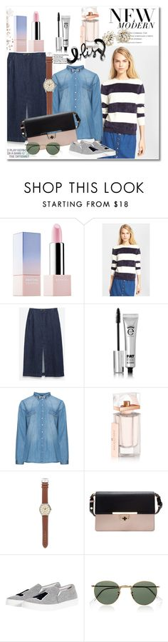 """Get the look"" by vkmd on Polyvore featuring Sephora Collection, A.P.C., Zara, Eyeko, Balenciaga, J.Crew, Joshua's, Ray-Ban, NYFW and plus size clothing"