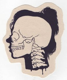 Skull Lady Silkscreen Patch