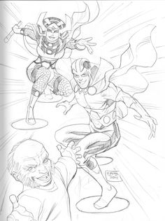 Big Barda, Mister Miracle, & Oberon by TJ Frias