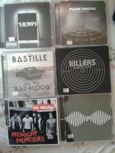 All my faves except 1D, they're not really my favorite type of music