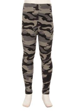 Little Grey Camo Girls Leggings, Women's Leggings, Camo, Shop Now, Sweatpants, Grey, Kids, Shopping, Heaven