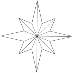 5 point star template | Craft Pattern - 5-Pointed Star Pattern ...