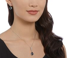 An ideal gift or treat for yourself! This rhodium-plated set will make any woman…
