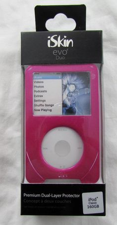 iSkin evo Duo iPod Classic Cover Premium Dual Layer Protection Pink NEW Ipod Classic, Evo, Music Videos, Layers, Concept, Cover, Pink, Layering, Blankets
