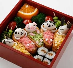 Look at the wee soya-beans-on-a-stick, almost as sweet as the Inarizushi piglet.