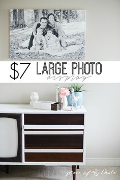 Who doesn't love to display photos? Especially when you can make a huge display for less then $10. Awesome!
