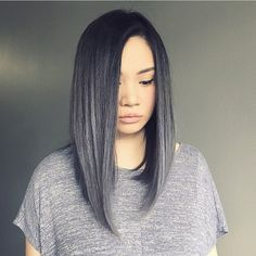 Heart Dreamy #grey hair @chrisweberhair #hairgoal #haircrush #hellohair​ #hairinspo #greyhairdontcare #pretty #style