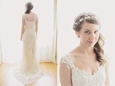 claire pettibone gowns - ruffledblog.com/romantic-brooklyn-winery-wedding
