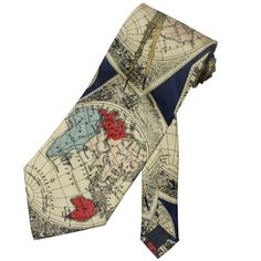 Men's Handmade Tie Vintage Clock Celestial Globe « Clothing Impulse