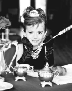 Breakfast At Tiffanys :) Who  wants to dress their little girl up like this for me and take pics?!?! SOOO cute!