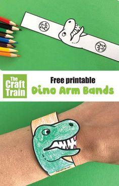 Dinosaur Facts For Kids, Dinosaur Crafts Kids, Dinosaur Theme Preschool, Paper Dinosaur, Dinosaur Printables, Dinosaur Activities, Easy Crafts For Kids, Preschool Crafts, Toddler Crafts