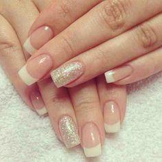 Glittering Gold French Manicure Design imgc6e64b4fbb9ce979c