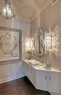 White and silver bathroom gorgeous master bath gold maybe a black bedroom with alternating color accents . white and silver bathroom Silver Bathroom, Master Bathroom, Bathroom Black, White Bathrooms, Master Bedrooms, Decoration Inspiration, Bathroom Inspiration, Design Inspiration, Design Ideas