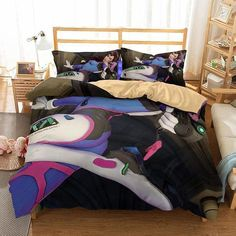 3D Game Overwatch Printed 4 Bedding Sets Duvet Cover Setqueen Size
