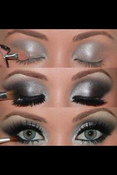 Silver makeup