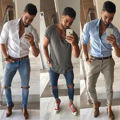 Pin by men's lifestyle through the eyes of dpe on mens casual summe Casual Summer Outfits, Casual Wear, Men Casual, Mode Outfits, Fashion Outfits, Fashion Business, Mode Man, Style Masculin, Cooler Look