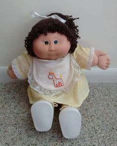 "Vintage 1984 17"" Original Appalachian Artworks Girl Cabbage Patch Kid #DollswithClothingAccessories"