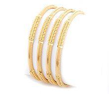 Gold - Bangles - Plain - BA137
