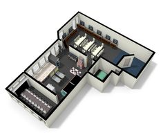 Place for gaming. Very high density gaming here. Made in floorplanner.com