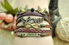 Retro cuff bracelet  Infinity & Bird Love  by BeautifulShow, $5.99