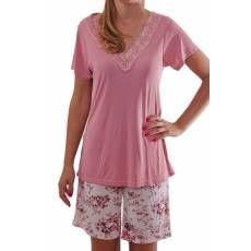 Pijama com Bermuda Gardênia Rosado