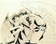 Ao no Exorcist / Rin And Yukio / Blue Exorcist Ao No Exorcist, Blue Exorcist Anime, Rin Okumura, Cute Anime Boy, Anime Love, Manga Anime, Anime Art, Sailor Moon, Devilman Crybaby