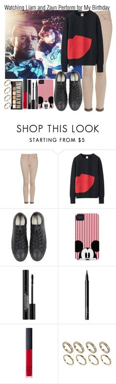 """""""Watching Liam and Zayn Perform for My Birthday"""" by elise-22 ❤ liked on Polyvore featuring Topshop, Uniqlo, Converse, NARS Cosmetics, NYX and ALDO"""