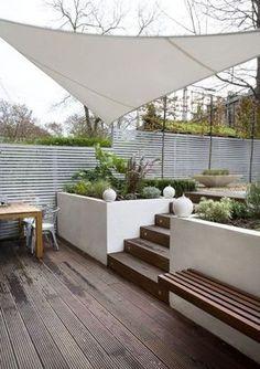 Planters / Raised Beds # Concrete Planters # Raised Beds - Garden Design - Garden Care, Garden Design and Gardening Supplies Concrete Garden, Concrete Planters, White Concrete, Concrete Stairs, Planter Pots, Wood Stairs, Patio Planters, Planter Ideas, Backyard Patio