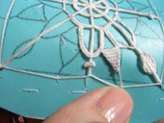 Dentelles d'abord: Tutorial 2: Reticella bookmark (merletto ad ago geometrico)parte 4