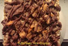 Butterfinger Rice Krispie Treats – The Baking ChocolaTess