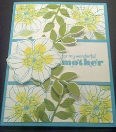 Mothers Day Card using Secret Garden Stamp Set and Framelits from Stampin' Up!