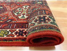 Indian Oriental Rug, 5 x 9 Red Meshkin