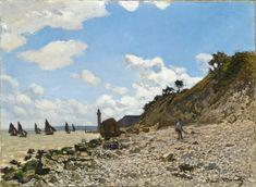 Claude Monet - The Beach at Honfleur Claude Monet, Monet Poster, Los Angeles Country, A4 Poster, Poster Prints, Honduras Travel, Honfleur, Oil On Canvas, Canvas Prints