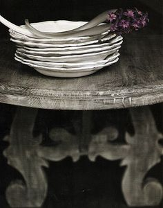 greige: interior design ideas and inspiration for the transitional home : Gorgeous in Grey Chinoiserie, Transitional House, Jolie Photo, Shabby Vintage, Shabby Chic Style, Rustic Charm, A Table, Table Legs, Wood Table