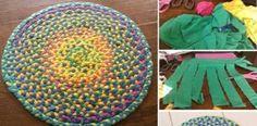 Použijte znovu stará trička! Vytvořte si z nich nádherný koberec!