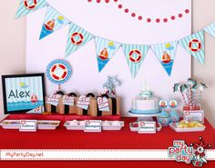 Printables for nautical party/ Imprimibles para fiesta marinera Nautical Party, Ideas Para Fiestas, Advent Calendar, Baby Shower, Holiday Decor, Parties, Printables, Candy, Image