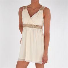 As U Wish Juniors Short Dress with Embellishment